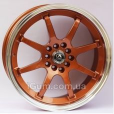 Диски R17 5x114,3 Alexrims AFC-2 (forged) 8x17 5x114,3 ET42 DIA67,1 (bronze + polished rim)