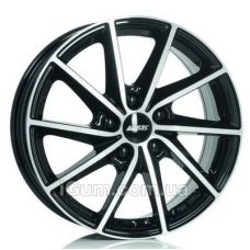 Диски R16 4x108 Alutec Singa 6x16 4x108 ET23 DIA65,1 (diamond black front polished)