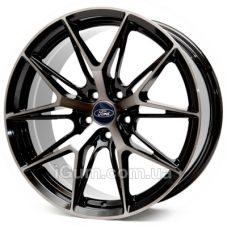 Диски Replica Ford (CN743) 8x18 5x108 ET40 DIA67,1 (black front polished black coating)