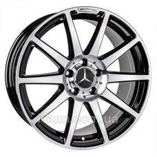 Диски Replica Mercedes (MR9028) 9,5x18 5x112 ET35 DIA66,6 (gloss black machined face)