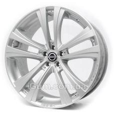Диски Replica Nissan (RS1) 9,5x22 5x114,3 ET20 DIA72,6 (silver)