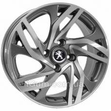 Шины Replica Peugeot (PT110) 7x16 4x108 ET25 DIA65,1 (GMF)