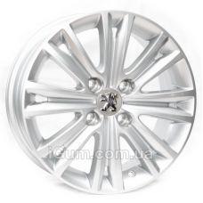 Диски Replica Peugeot (R345) 6x15 4x108 ET27 DIA65,1 (silver)