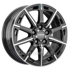 Диски Ronal R60 Blue 6,5x16 5x100 ET40 DIA68 (jet black front diamond cut)