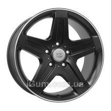 Диски WSP Italy Mercedes (W779) Nagano 9,5x19 5x130 ET50 DIA84,1 (dull black polished lip)
