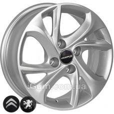 Диски ZF TL4010 6x15 4x108 ET23 DIA65,1 (silver)