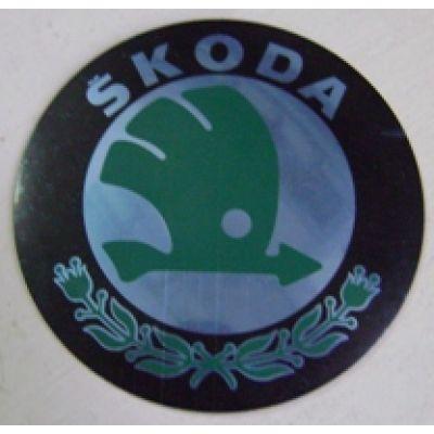 Аксессуары Наклейка на диск Skoda 56 выпуклые зеленые
