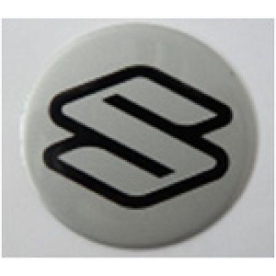 Аксессуары Наклейка на диск Suzuki 58 выпуклый серый